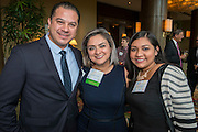 Sandra Menxueiro, center, poses with parents before the Keep Houston Beautiful Mayor's Proud Partner Awards luncheon at the Hilton Americas, November 7, 2016.