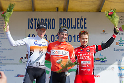 Third placed Jan Tratnik of BMC during flower ceremony after the 13th Istrian Spring Trophy on March 10, 2016 in Umag, Croatia. (Photo by Ziga Zupan / Sportida)