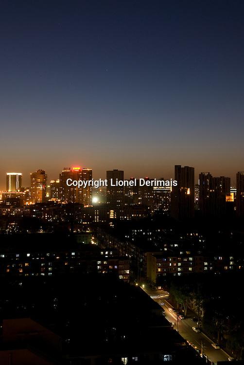 Beijing at dusk, 2009.