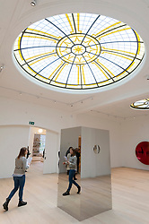 © Licensed to London News Pictures. 13/03/2019. London, UK.Visitors view artwork by artist Sir Anish Kapoor at the re-opening of Pitzhanger manor and gallery showing his work. Pitzhanger Manor & Gallery, the Grade-I listed country home of visionary British architect Sir John Soane (1753-1837), will reopen to the public on 16 March 2019 following a three-year, £12-million conservation and restoration project led by architects Jestico + Whiles with the support of heritage experts Julian Harrap Architects. Photo credit: Ray Tang/LNP