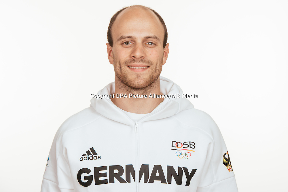 Maximilian Levy poses at a photocall during the preparations for the Olympic Games in Rio at the Emmich Cambrai Barracks in Hanover, Germany, taken on 12/07/16 | usage worldwide