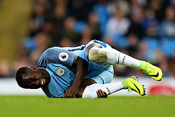 Bacary Sagna of Manchester City picks up a knock - Mandatory by-line: Matt McNulty/JMP - 02/01/2017 - FOOTBALL - Etihad Stadium - Manchester, England - Manchester City v Burnley - Premier League