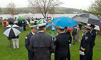 """Celebration of Life memorial service for Charles """"Chuck"""" Palm at Hesky Park in Meredith May 15, 2011."""
