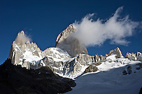 Cerro Poincenot and Mt. Fitz Roy