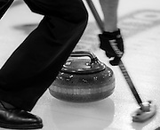 "Glasgow. SCOTLAND.   ""Sweeping"",  ""Round Robin"" Game. Le Gruyère European Curling Championships. 2016 Venue, Braehead  Scotland<br /> Tuesday  22/11/2016<br /> <br /> [Mandatory Credit; Peter Spurrier/Intersport-images]"
