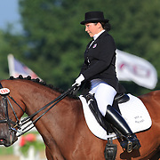 Elizabeth Allen and Whispering Wind at the 2010 North American Young Rider Championships in Lexington, Kentucky.