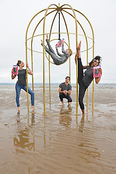 The official photocall to launch the Edinburgh Festival Fringe 2016 programme featuring elements of this year's Defying Convention campaign, Edinburgh Festival Fringe 2016, West Portobello Beach,  Edinburgh, 6th June 2016, <br /> (c) Brian Anderson | Edinburgh Elite media