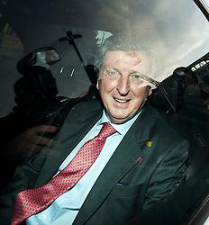 © London News Pictures. 30/04/2012. London, UK. Roy Hodgson leaving Wembley Stadium after holding talks with the English Football Association (FA) over the vacant England football teams manager's job. Photo credit : Ben Cawthra /LNP