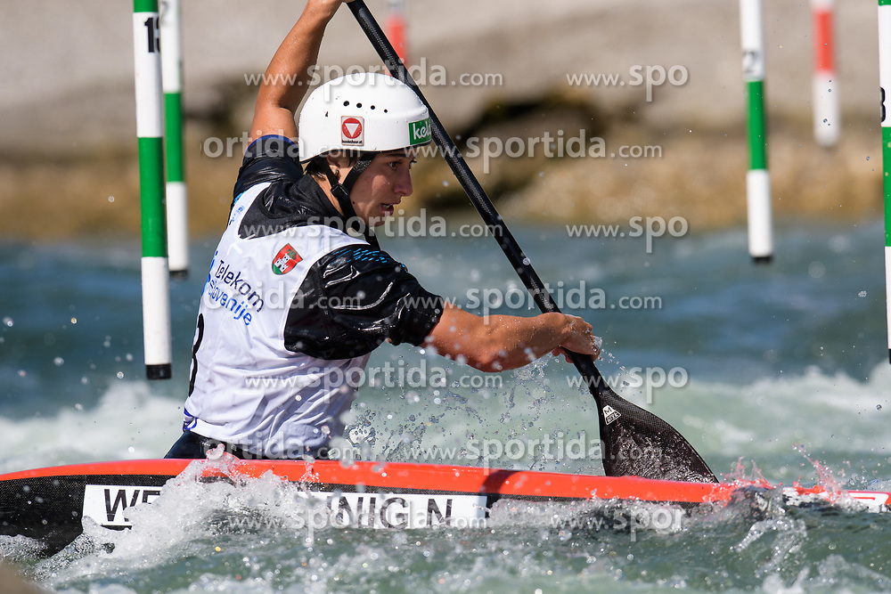Nadine WERATSCHNIG of Austria during the Canoe Single (WC1) Womens Semi Final race of 2019 ICF Canoe Slalom World Cup 4, on June 30, 2019 in Tacen, Ljubljana, Slovenia. Photo by Sasa Pahic Szabo / Sportida