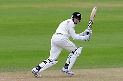 New Zealand's Mitchell Santner flicks the ball. Photo mandatory by-line: Harry Trump/JMP - Mobile: 07966 386802 - 10/05/15 - SPORT - CRICKET - Somerset v New Zealand - Day 3- The County Ground, Taunton, England.