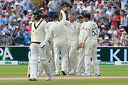 Wicket - Ben Stokes of England celebrates taking the wicket of Usman Khawaja of Australia during the International Test Match 2019 match between England and Australia at Edgbaston, Birmingham, United Kingdom on 3 August 2019.