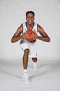 September 28, 2016: Rodney Miller #14 poses during  Miami Hurricanes Men's Basketball Photo Day in Coral Gables, Florida.