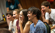 Students enjoy a comedy show during Sunburst Festival at Memorial Union in 2014.
