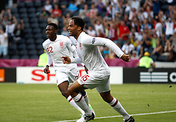 Joleon Lescott and Danny Welbeck during the 1-1 draw in the Group D Match Against France AT The Euro 2012 Football Championships in Donetsk, Ukraine, June 11 2012. Photo By Imago/i-Images