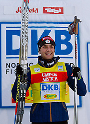 17.12.2011, Casino Arena, Seefeld, AUT, FIS Nordische Kombination, Langauf 10 km, im Bild ,Janson Lamy Chappuis (FRA, 1. Platz) // Janson Lamy Chappuis of France first place during the cross-country skiing 10 km at FIS Nordic Combined World Cup in Sefeld, Austria on 20111211. EXPA Pictures © 2011, PhotoCredit: EXPA/ P.Rinderer
