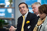 29 MAR 2017, BERLIN/GERMANY:<br /> Mario Ohoven, Praesident des Bundesverbandes mittelst&auml;ndische Wirtschaft, Veranstaltung des Wirtschaftsforums der SPD und der Business 20, B20: &quot;Global Governance in Zeiten der Globalisierungsskepsis - Impulse aus der G20-Wirtschaft&quot;, Quartier Zukunft der Deutschen Bank<br /> IMAGE: 20170329-02-158