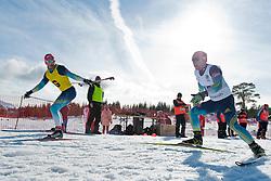 KOVALEVSKYI Anatolii Guide: MUKSHYN O, UKR, Biathlon Pursuit, 2015 IPC Nordic and Biathlon World Cup Finals, Surnadal, Norway