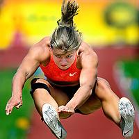 Oostenrijk, Gotzis, 31-05-2015<br /> Atletiek, Zevenkamp, Hepathlon, 2e dag.<br /> Verspringen.<br /> Dafne Schippers tijdens verspringen waarbij zij een afstand haalt van 6.43 meter meter.