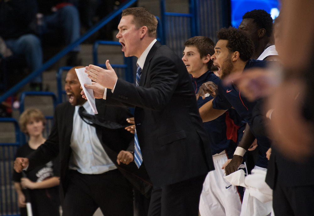 Zags' bench rises against West Virginia<br /> <br /> Photo by Rajah Bose