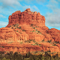 Photograph of Bell Rock formation in Sedona, Arizona.