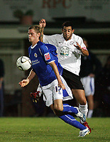 Photo: Rich Eaton.<br /> <br /> Hereford United v Leicester City. Carling Cup. 19/09/2006. Richard Stearman of Leicester chests the ball