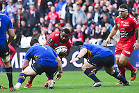 Mathieu Bastareaud - 19.04.2015 - Toulon / Leinster - 1/2Finale European Champions Cup -Marseille<br /> Photo : Andre Delon / Icon Sport