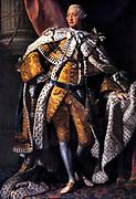George III in Coronation Robes. George III  1738 – 1820, King of Great Britain  1760 - 1820.  Portrait by Allan Ramsay (1713 – 1784)