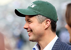 Oct 23, 2011; East Rutherford, NJ, USA; Frederik, Crown Prince of Denmark before the game between the New York Jets and San Diego Chargers at MetLife Stadium.