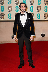 © Licensed to London News Pictures. 14/02/2016. London, UK. BLAKE HARRISON arrives on the red carpet for the EE British Academy Film Awards 2016 after party held at Grosvenor House . London, UK. Photo credit: Ray Tang/LNPPhoto credit: Ray Tang/LNP