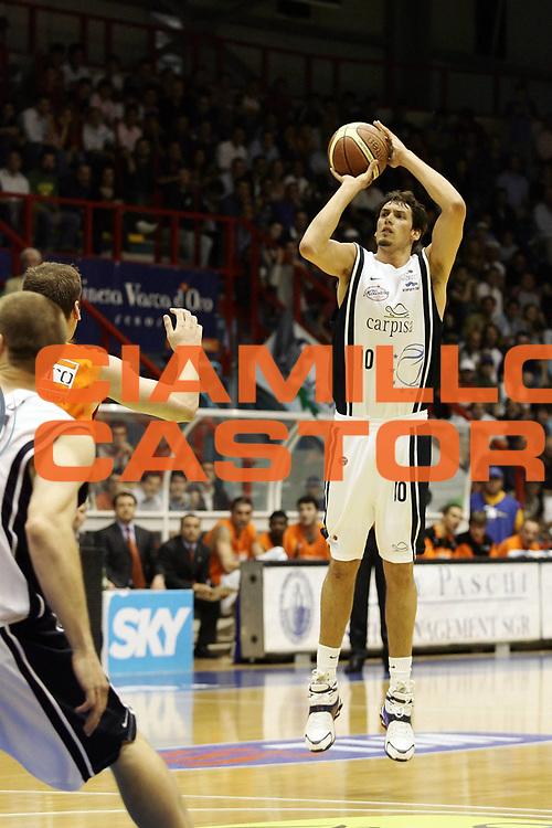 DESCRIZIONE : Napoli Lega A1 2005-06 Play Off Quarti Finale Gara 1 Carpisa Napoli Snaidero Udine<br /> GIOCATORE : Cittadini<br /> SQUADRA : Carpisa Napoli<br /> EVENTO : Campionato Lega A1 2005-2006 Play Off Quarti Finale Gara 1 <br /> GARA : Carpisa Napoli Snaidero Udine <br /> DATA : 18/05/2006 <br /> CATEGORIA : Tiro<br /> SPORT : Pallacanestro <br /> AUTORE : Agenzia Ciamillo-Castoria/A. De Lise <br /> Galleria : Lega Basket A1 2005-2006 <br /> Fotonotizia : Napoli Lega A1 2005-06 Play Off Quarti Finale Gara 1 Carpisa Napoli Snaidero Udine