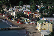 Fishing village of Anse la Raye, St Lucia, Lesser Antilles, Caribbean