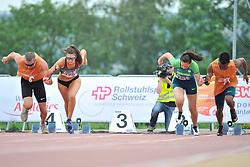 04/08/2017; Brown, Larissa, T12, CAN, Ferreira, Gabriela, BRA at 2017 World Para Athletics Junior Championships, Nottwil, Switzerland