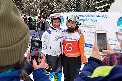 Super Combined and Super G, PERRINE Melissa Guide: KELLY Bobbi, B2, AUS at the WPAS_2019 Alpine Skiing World Championships, Kranjska Gora, Slovenia