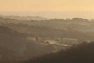 A frosty dawn over Brading Down on the Isle of Wight.