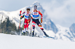 02.03.2019, Seefeld, AUT, FIS Weltmeisterschaften Ski Nordisch, Seefeld 2019, Nordische Kombination, Langlauf, Team Bewerb 4x5 km, im Bild Lukas Klapfer (AUT) // Lukas Klapfer of Austria during the Cross Country Team competition 4x5 km of Nordic Combined for the FIS Nordic Ski World Championships 2019. Seefeld, Austria on 2019/03/02. EXPA Pictures © 2019, PhotoCredit: EXPA/ Stefan Adelsberger