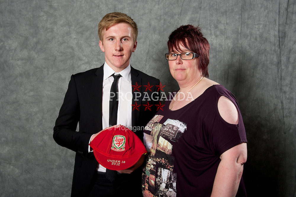 CARDIFF, WALES - Saturday, May 11, 2013: Connor Lemonheigh-Evans and family at the FAW Trust Under-16's cap presentation. (Pic by David Rawcliffe/Propaganda)