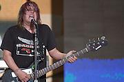 DAYTONA BEACH, FLA. -- Bassist Robby Takac of the Goo Goo Dolls at the Dale Earnhardt Tribute concert at the Daytona International Speedway in Daytona Beach, Fla....©2003 Scott A. Miller