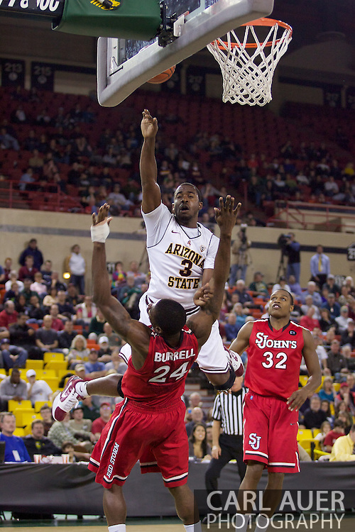 November 27th, 2010:  Anchorage, Alaska - Sun Devil senior guard Ty Abbott (3) elevates for a shot in Arizona State's 58-67 loss to St. John's in the championship game of the Great Alaska Shootout.