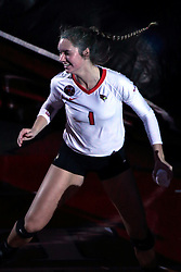 18 November 2016:  Ali Line during an NCAA women's volleyball match between the Northern Iowa Panthers and the Illinois State Redbirds at Redbird Arena in Normal IL (Photo by Alan Look)