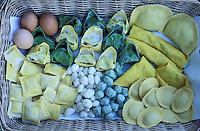 Italie - Toscane - Province de Florence - Variété de pates - Pasta. // Italy, Tuscany, Florence province, Italian pasta.