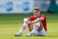 ALKMAAR - 30-08-2015, AZ - Roda JC, AFAS Stadion, 0-1, teleurstelling, AZ speler Ben Rienstra.