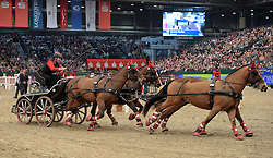17.01.2016, Neue Messe, Leipzig, GER, FEI World Cup Driving, im Bild Fahrer Jerome Voutaz (SUI) // during the FEI World Cup Driving at the Neue Messe in Leipzig, Germany on 2016/01/17. EXPA Pictures © 2016, PhotoCredit: EXPA/ Eibner-Pressefoto/ Modla<br /> <br /> *****ATTENTION - OUT of GER*****