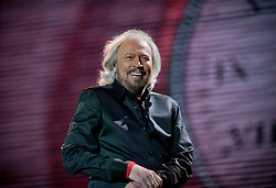 Barry Gibb, Mission Concert, Napier, New Zealand, 23 February, 2013. Photo: SNPA / Bethelle McFedries