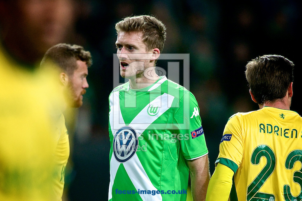 Andre Sch&uuml;rrle of VfL Wolfsburg during the UEFA Europa League match at Volkswagen Arena, Wolfsburg<br /> Picture by Ian Wadkins/Focus Images Ltd +44 7877 568959<br /> 19/02/2015