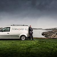 Håkan Törnqvist, progressiv elektriker från Torslanda. Fotograferat för tidningen Elinstallatören. Photo © Daniel Roos