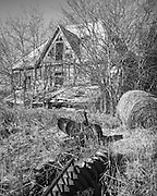 1965 Gunter, TX - Old Farmhouse with Hay