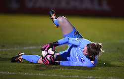 Lucy Gillett of Brighton and Hove Albion Ladies stops a Bristol shot - Mandatory by-line: Paul Knight/JMP - 02/12/2017 - FOOTBALL - Stoke Gifford Stadium - Bristol, England - Bristol City Women v Brighton and Hove Albion Ladies - Continental Cup Group 2 South