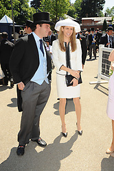 TOM MAGNIER and his wife at the second day of the 2010 Royal Ascot Racing festival at Ascot Racecourse, Berkshire on 16th June 2010.