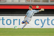 VSI Tampa Bay FC goalkeeper Dave Martin (00) in action against Antigua Barracuda in a USL Pro soccer match at Plant City stadium in Plant City, Florida on June 7, 2013. VSI won 8-0.<br /> <br /> ©2013 Scott A. Miller