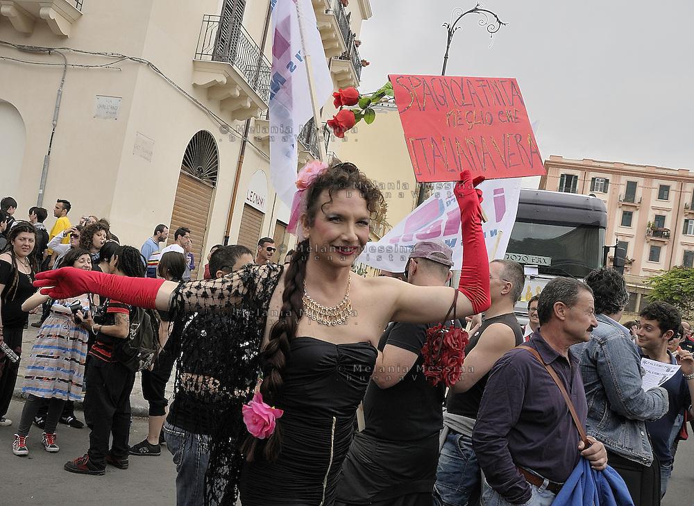 Palermo, gay pride second edition.<br /> Palermo, seconda edizione del gay pride.